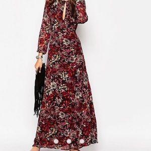 Glamorous ASOS tall floral maxi dress size XS GUC
